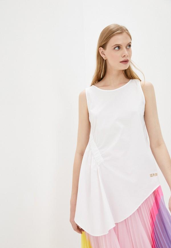женская блузка ice play, белая