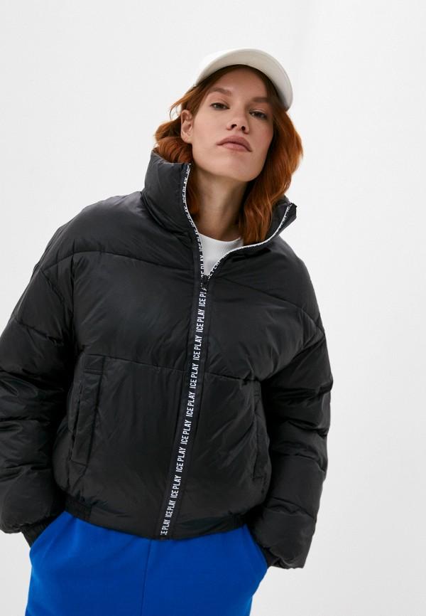 женская куртка ice play, черная
