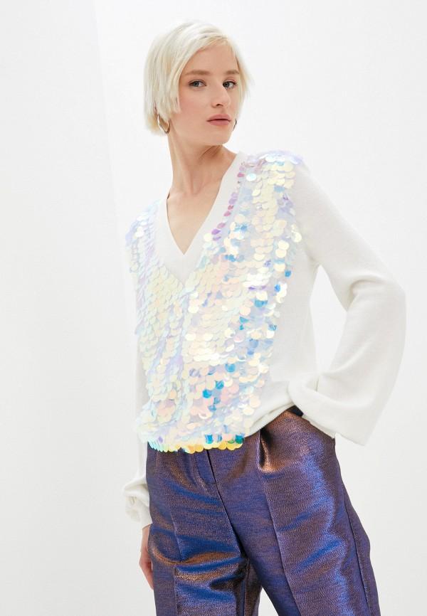 женский пуловер ice play, белый