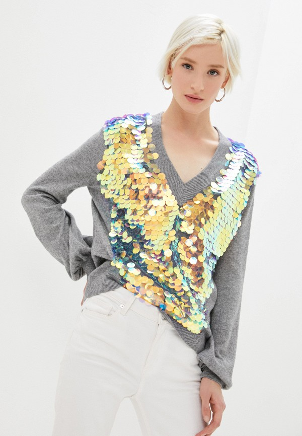 женский пуловер ice play, серый