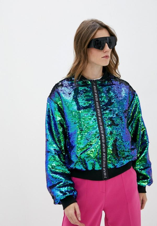 женская куртка ice play, разноцветная