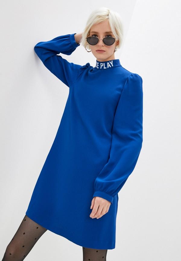 женское повседневные платье ice play, синее