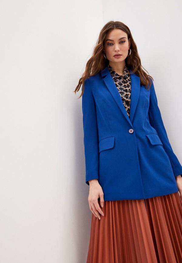женский пиджак ice play, синий
