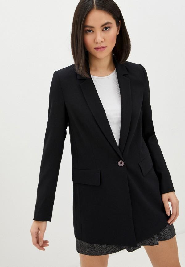 женский пиджак ice play, черный
