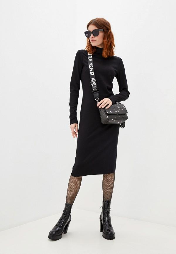 женское повседневные платье ice play, черное