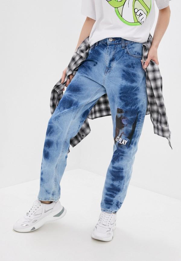 женские джинсы ice play, голубые