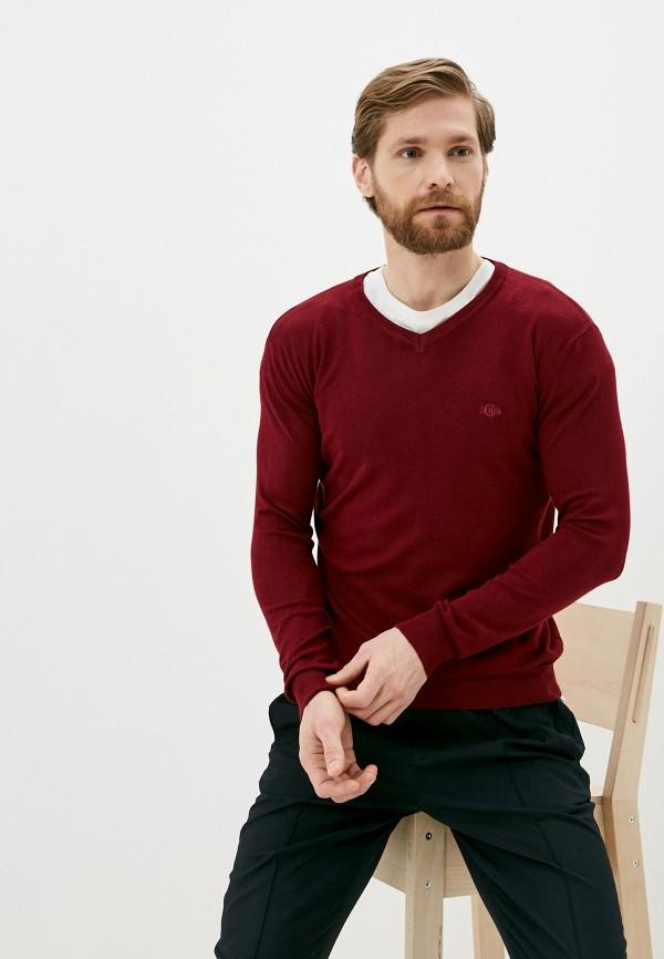 мужской пуловер iclub, бордовый