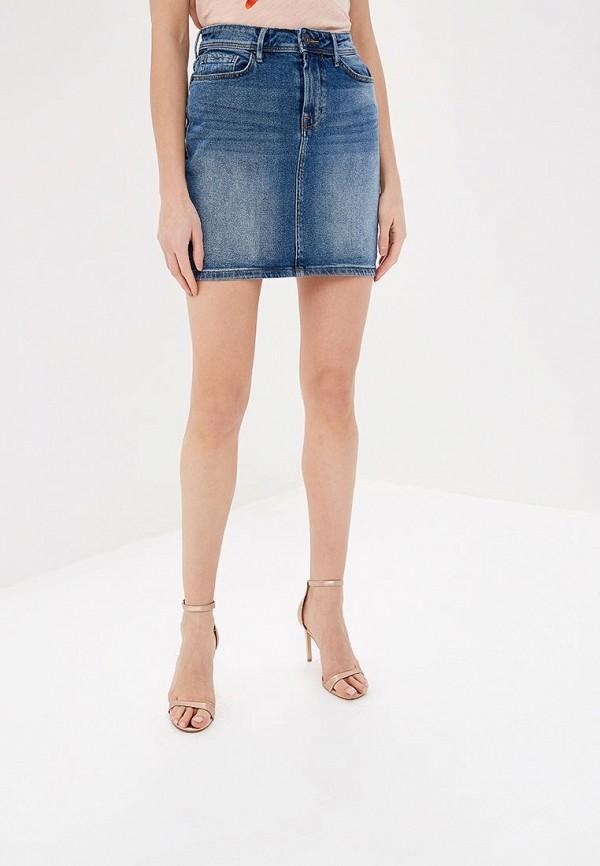 женская джинсовые юбка ichi, синяя