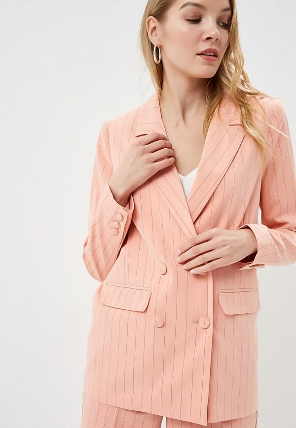 женский пиджак ichi, розовый