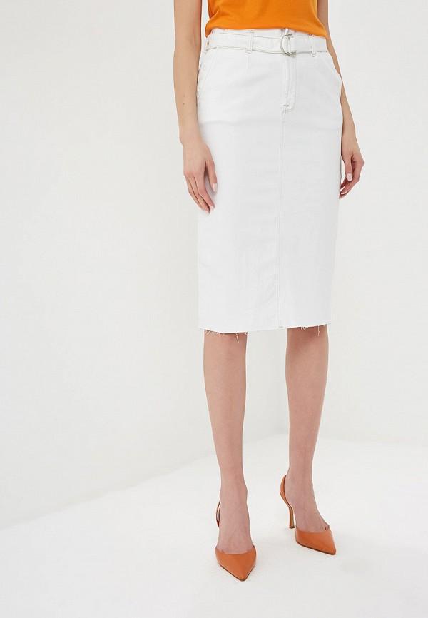 женская джинсовые юбка ichi, белая