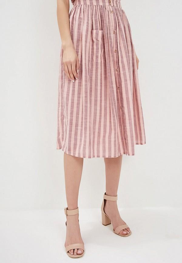 женская юбка ichi, розовая
