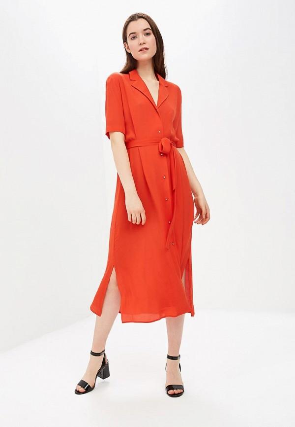 женское повседневные платье ichi, оранжевое