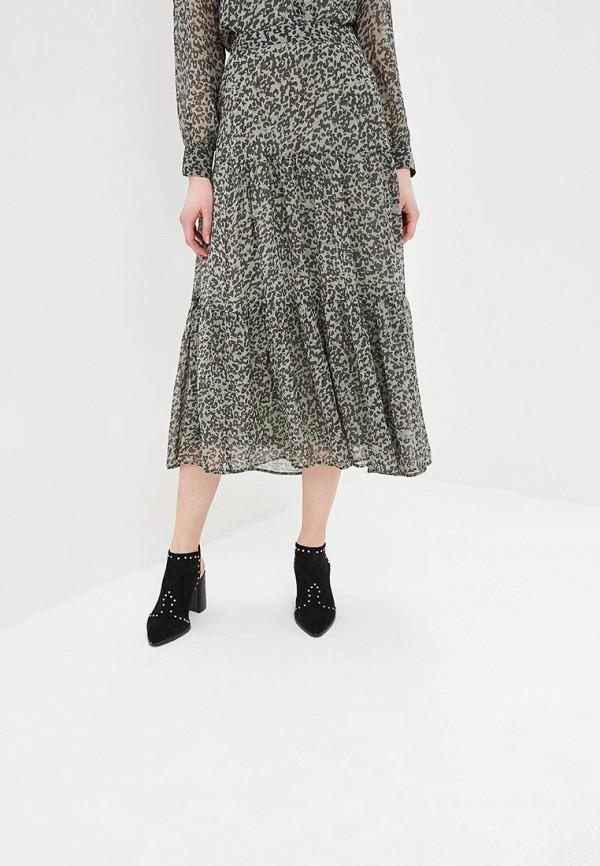 женская юбка ichi, зеленая