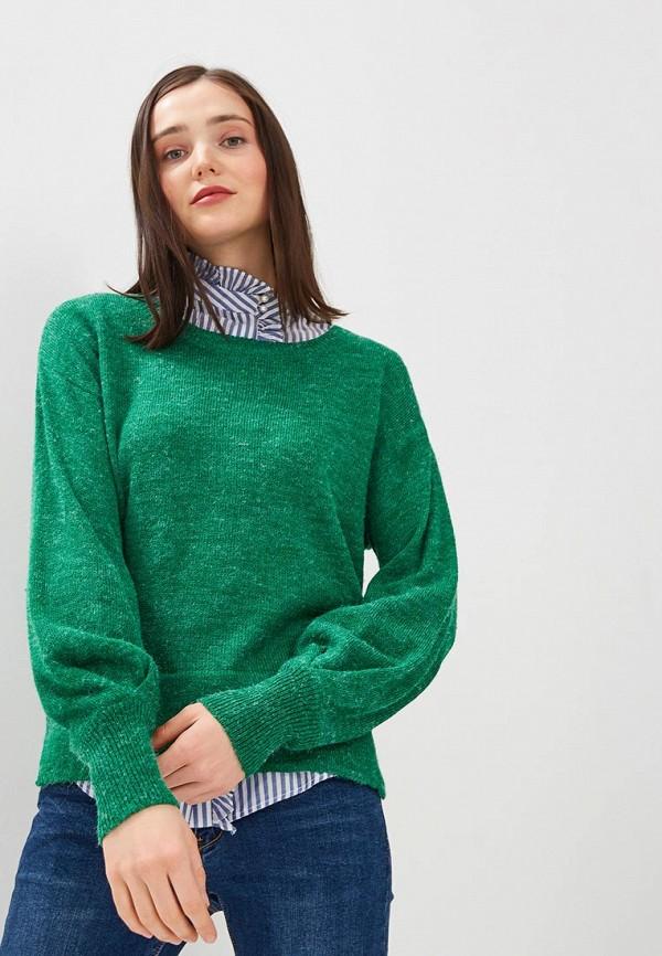 женский джемпер ichi, зеленый