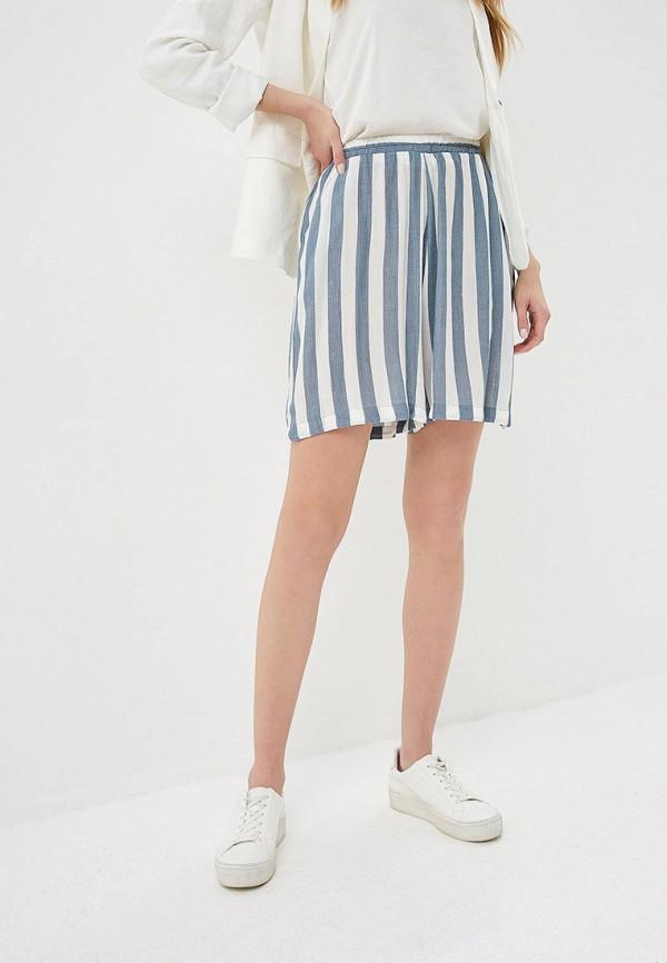 женские повседневные шорты ichi, голубые