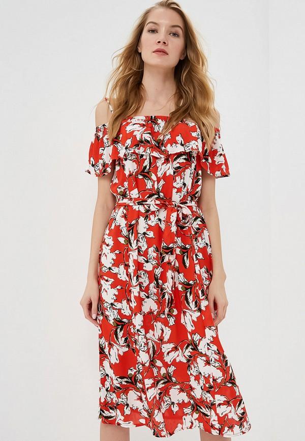 женское платье ichi, красное