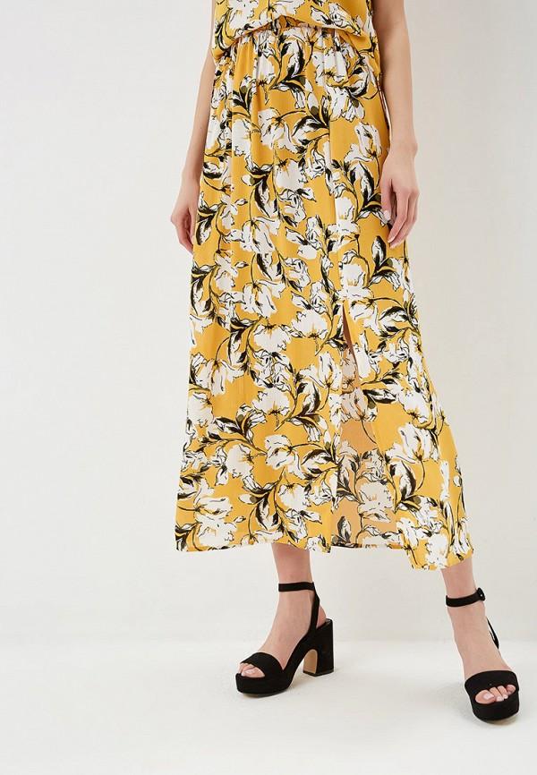 женская юбка ichi, желтая