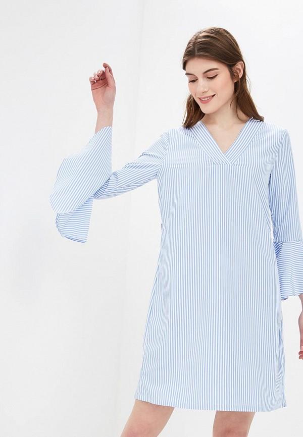 женское повседневные платье ichi, голубое