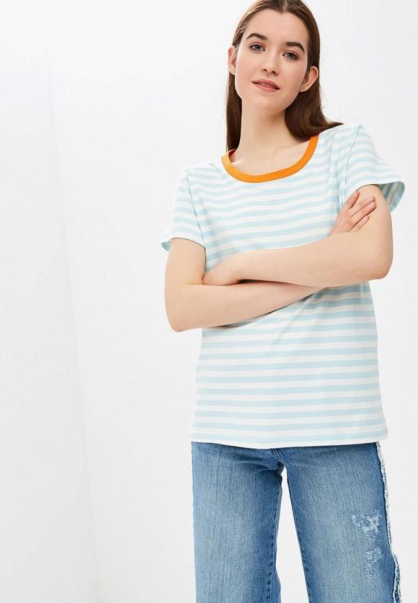 женская футболка ichi, голубая