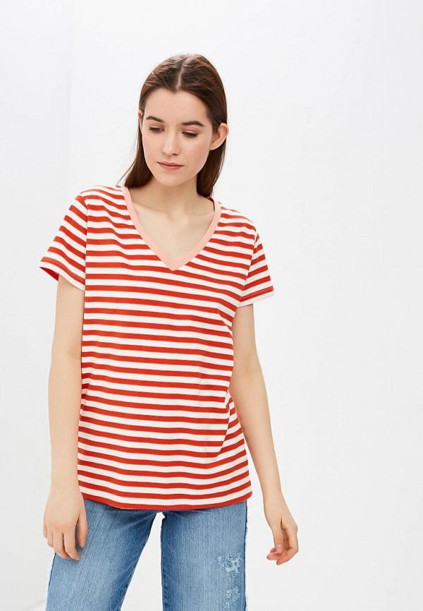 женская футболка ichi, красная