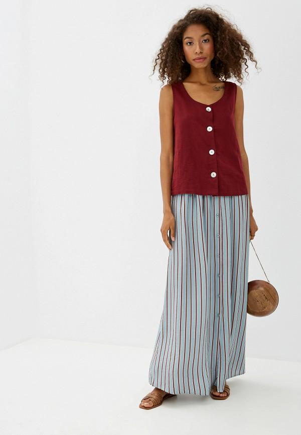 Фото 2 - женскую юбку Ichi бирюзового цвета