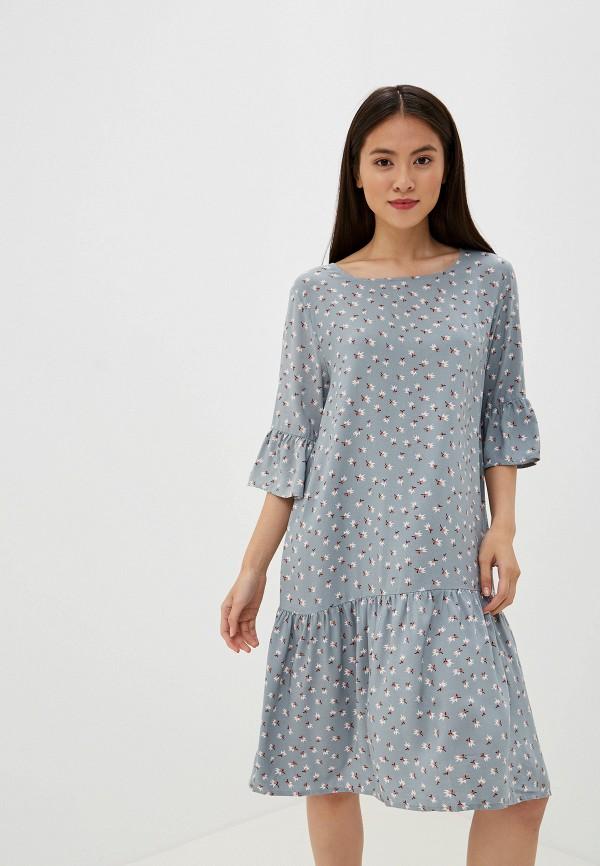 женское повседневные платье ichi, бирюзовое