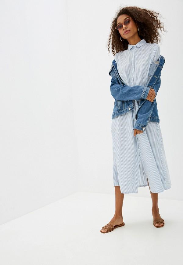женское платье ichi, голубое
