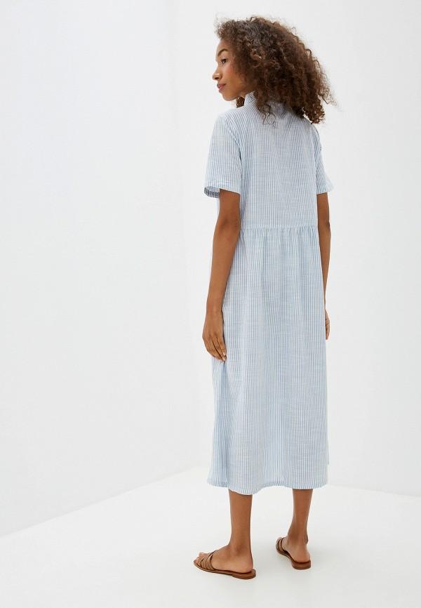 Фото 3 - женское платье Ichi голубого цвета