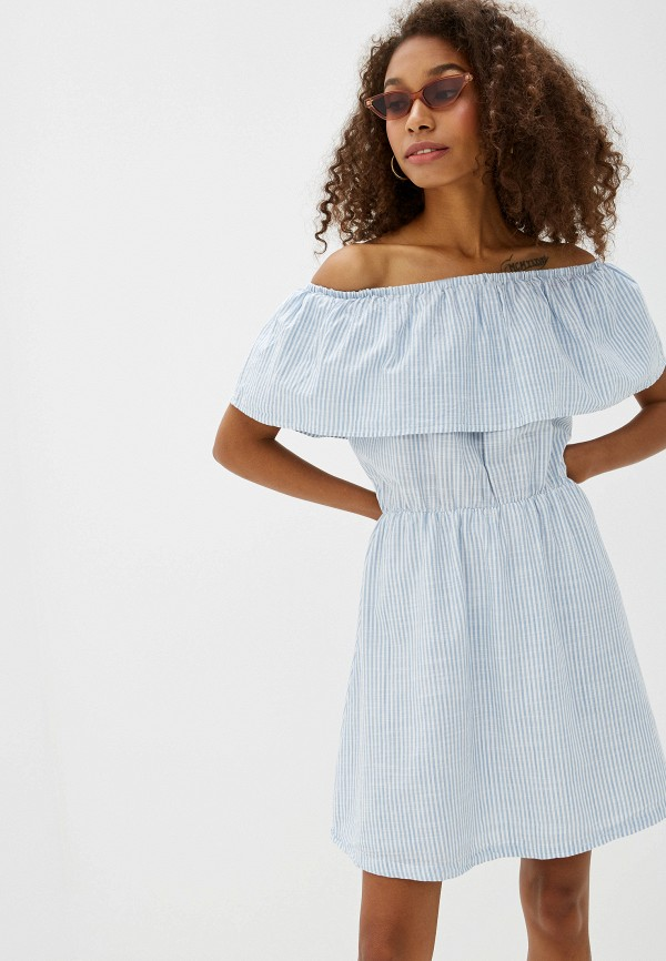 Фото - женское платье Ichi голубого цвета