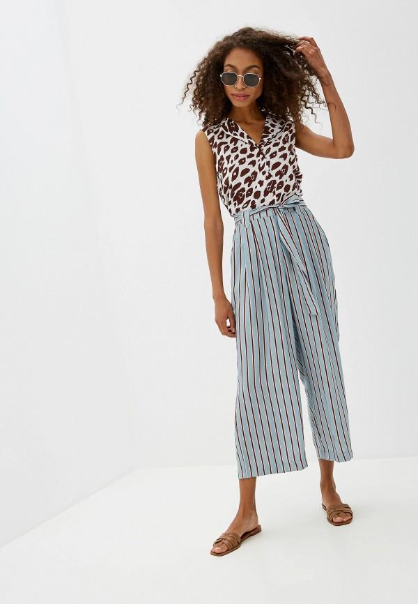 Фото 2 - женские брюки Ichi бирюзового цвета