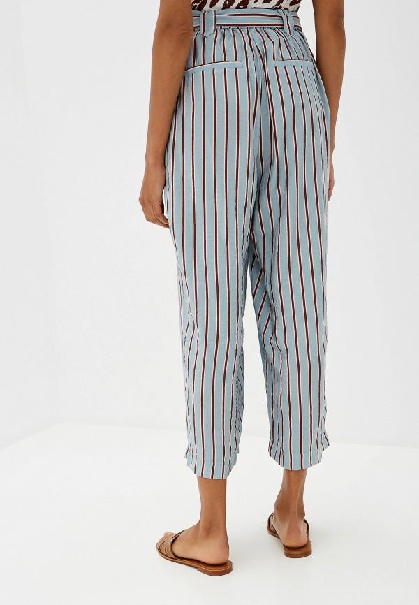 Фото 3 - женские брюки Ichi бирюзового цвета