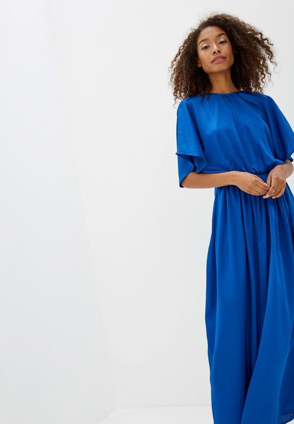 Фото 2 - женское платье Ichi синего цвета