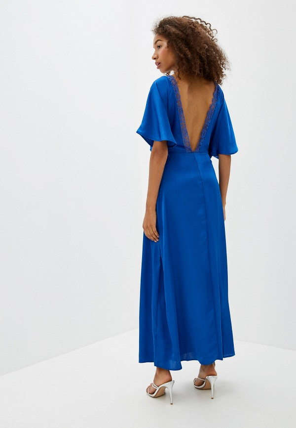 Фото 3 - женское платье Ichi синего цвета
