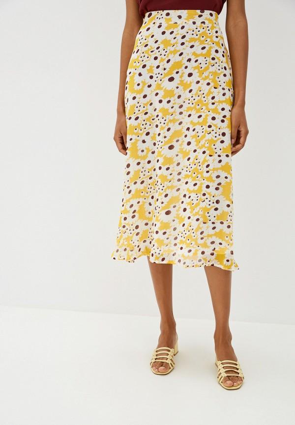 Фото - женскую юбку Ichi желтого цвета