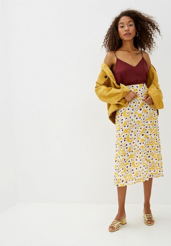 Фото 2 - женскую юбку Ichi желтого цвета