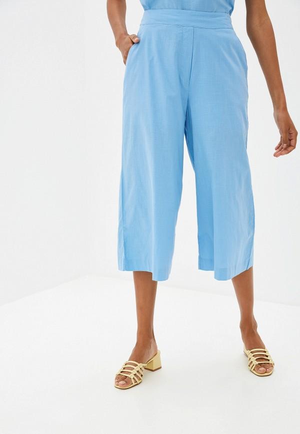 женские брюки ichi, голубые