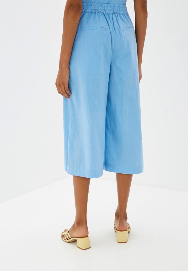 Фото 3 - женские брюки Ichi голубого цвета