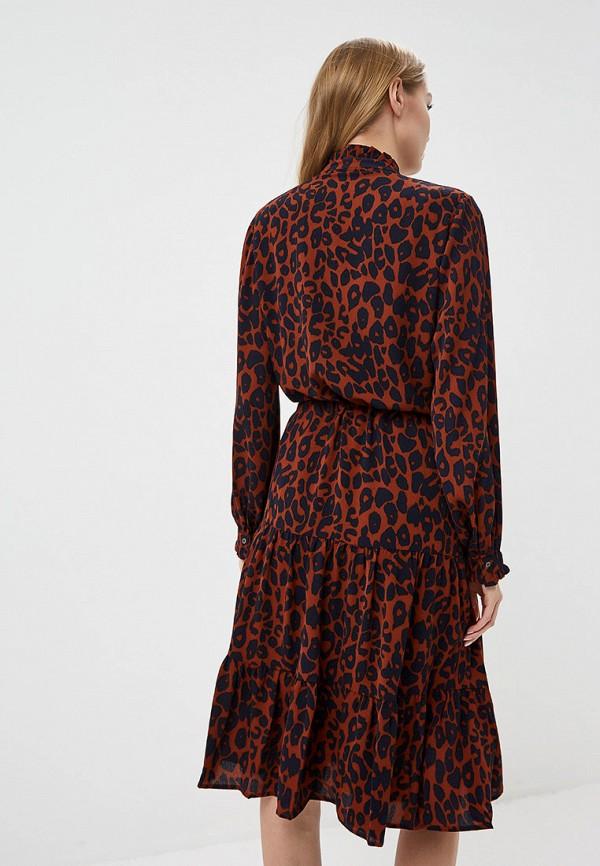 Фото 3 - женское платье Ichi коричневого цвета