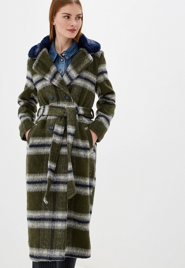 женское пальто ichi, хаки