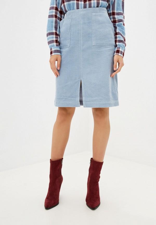 женская прямые юбка ichi, голубая