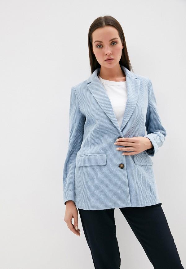 женский пиджак ichi, голубой