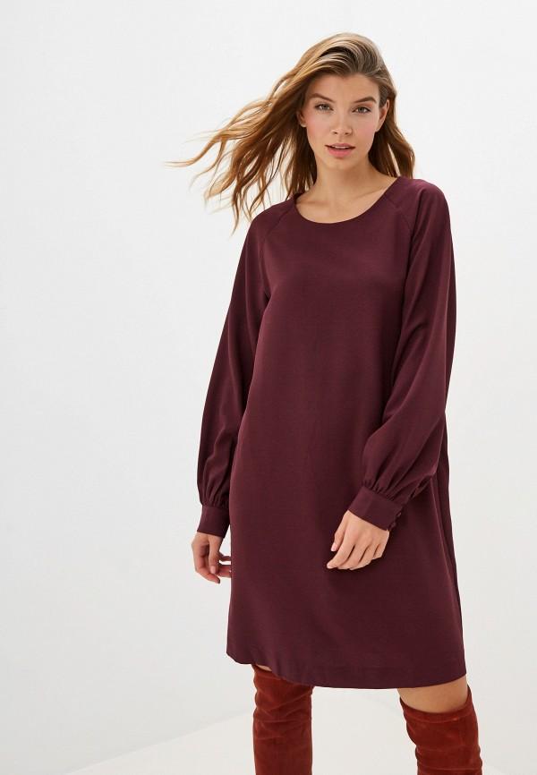 женское повседневные платье ichi, бордовое