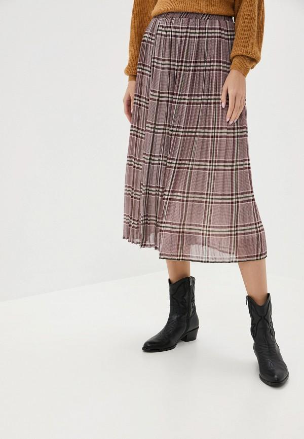 женская юбка ichi, бордовая