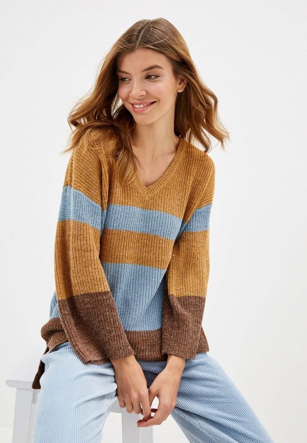 женский пуловер ichi, разноцветный