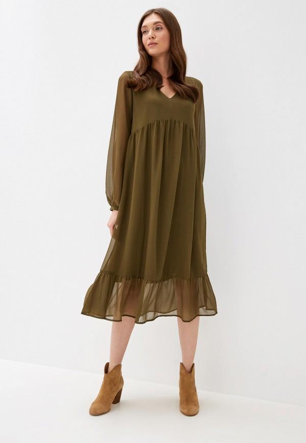 женское повседневные платье ichi, хаки