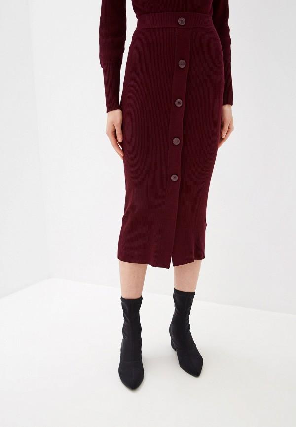 женская прямые юбка ichi, бордовая