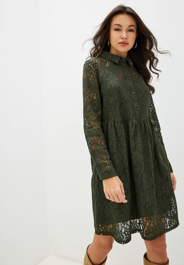 женское платье ichi, хаки