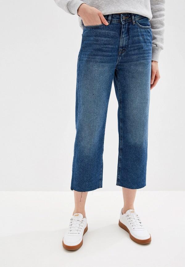 женские прямые джинсы ichi, синие