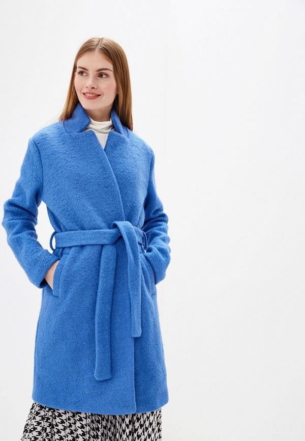 женское пальто ichi, синее