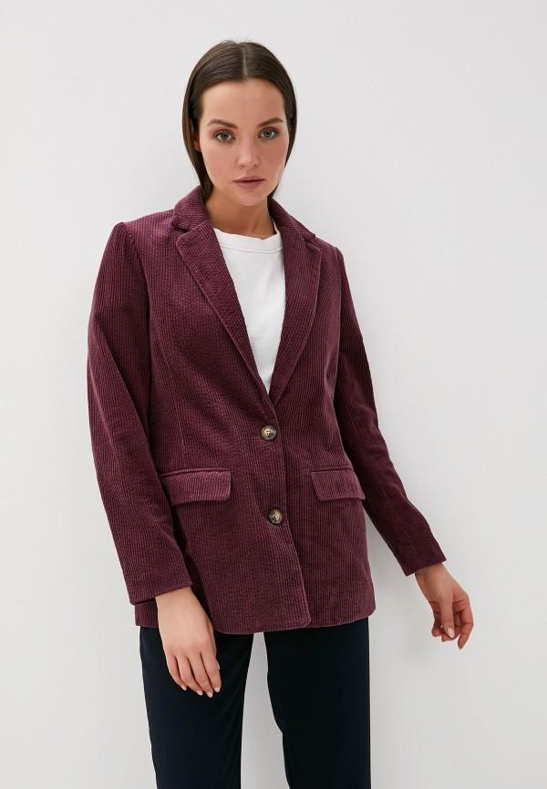 женский пиджак ichi, бордовый